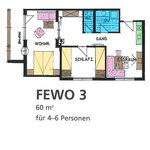 Photo of Apartment 3/4-6 People/2 Bedrooms