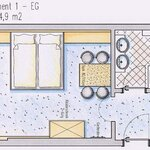 "Photo of ""TOP 1"" (2-3 People) living-bedroom/shower/toilet"