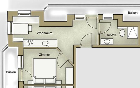 plan of apartment 4
