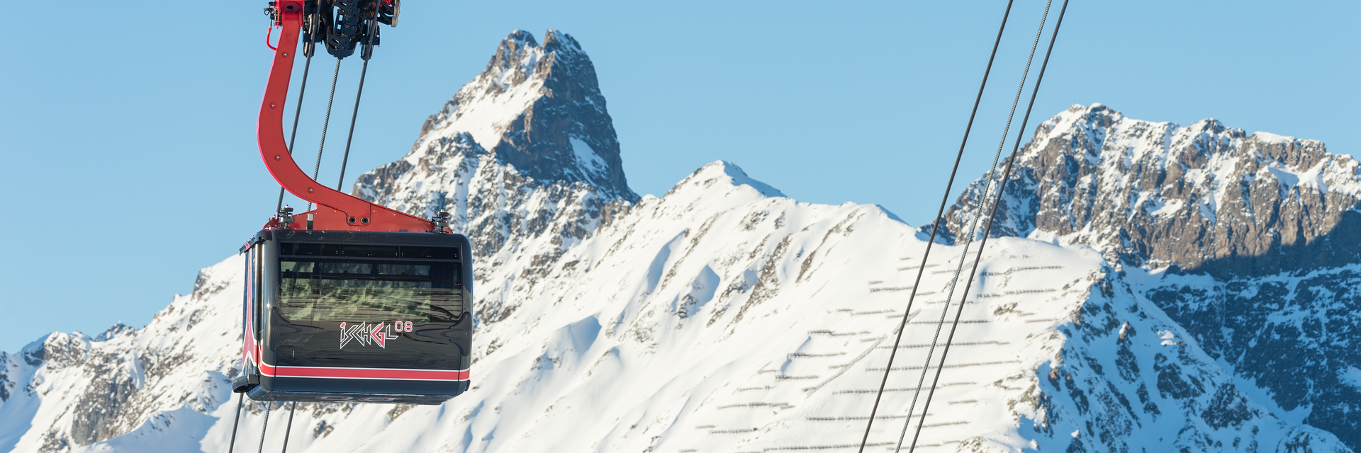 New cableway 3-S Pardatschgratbahn A2 with heated seats in Ischgl
