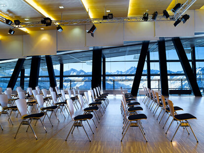 Conference hall in the mountain restaurant Pardorama in Ischgl