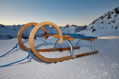 Night-time toboggan run in Ischgl