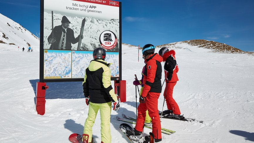 Skiers and snowboarders explore the smuggler's circuit in Ischgl